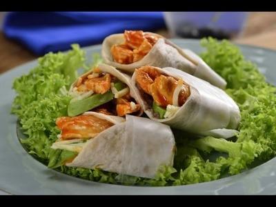 Burrito de Pollo Búfalo con Aguacate