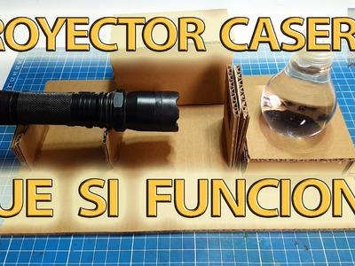 Como hacer un proyector casero con un foco y que si funciona! |NQUEH
