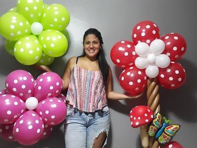 Como hacer una flor con globos paso a paso. flowers balloons flores aereas