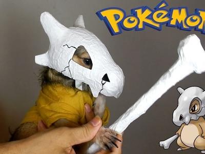 Disfraz de Cubone para mascota   Pokémon Cosplay