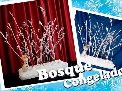 DIY  Frozen Centro de Mesa - Navidad. BOSQUE CONGELADO.