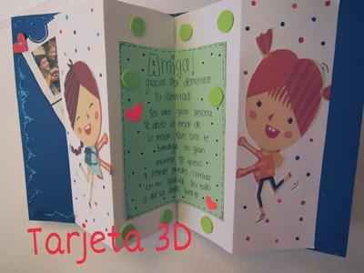 DIY❤ Manualidades tarjetas para regalar facil y creativa 3D