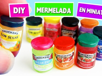 DIY | Mermeladas, Jaleas y Conservas en Miniatura - manualidadesconninos