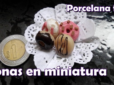 Donas en miniatura. Porcelana fría (Cold porcelain)