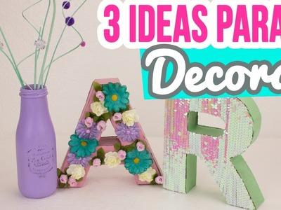 Letras de Cartón 3D Estilo Vintage Tumblr | ¡3 Ideas para Decorar tu Cuarto.Habitación! ♥ | Catwalk
