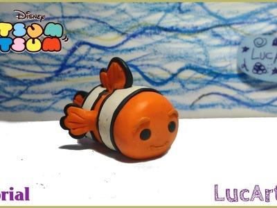 Nemo Tsum Tsum Polymer Clay Tutorial. Nemo con porcelana fría-plastilina. Finding Dory DIY