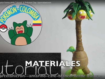 Pokemon  ✰exeggutor forma alola Tutorial ✰ Polymer Clay ✰porcelanicron