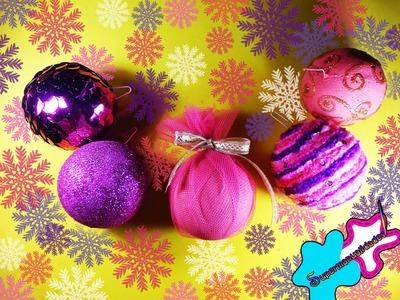 5 ESFERAS fáciles para tu arbolito navideño