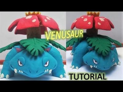 Como hacer a VENUSAUR de plastilina. how to make POKEMON VENUSAUR in clay tutorial