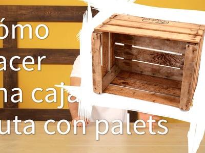 Cómo hacer cajas de fruta con palets  #7 | Re-crea Palets