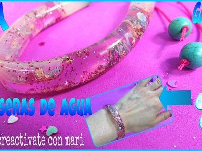 Cómo hacer pulseras de agua, how to make bracelets water