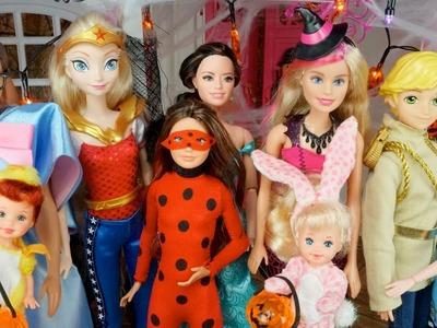 Fiesta de Halloween en Casa de Barbie y Ken con - Las Bebes, Elsa, Ladybug, Spiderman y Raquel