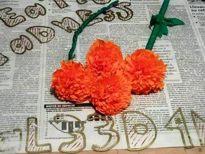 Flores de cempasúchil || cómo hace flor de cempasúchil divertidas || Flores para día de muertos