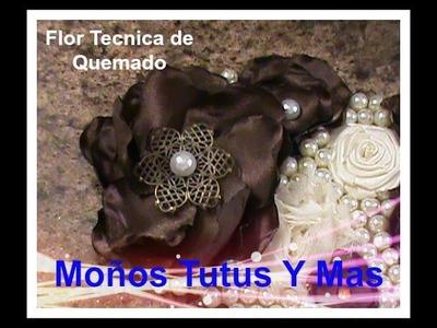 FLORES FACILES con TECNICA QUEMADO Paso a Paso EASY BURNT FLOWERS Tutorial DIY How To PAP