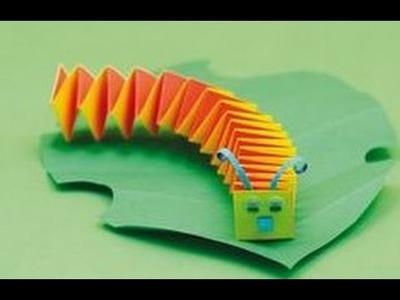 Oruga de Papel - Cómo hacer un papel preescolar Oruga manualidades para niños
