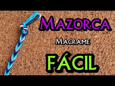 ► PULSERA: Hojas de MAZORCA || Pulsera de hilo FACIL