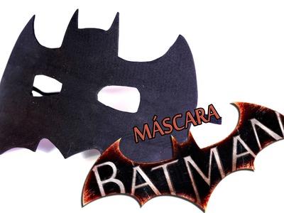 Cómo hacer máscara para disfraz de BATMAN rápido y fácil. Veo y aprendo.