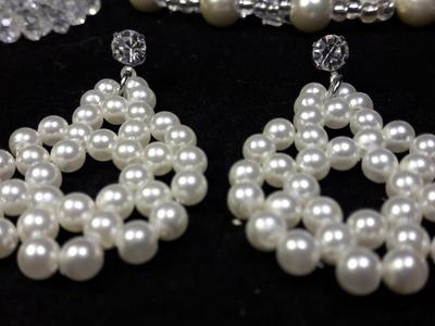 Elegante y fácil aro de perlas. Clase#21