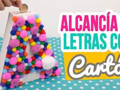 ¡Haz tu propia Alcancía Casera de Cartón! | Alcancía de Letra con Pompones | Catwalk