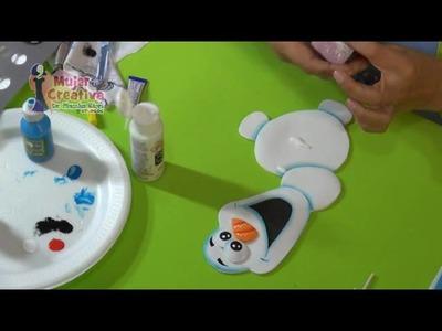Manualidad Para Fiesta Infantil Centro de Mesa Olaf.Frozen