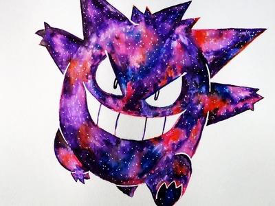 Cómo Colorear a Gengar Efecto Galaxia | Pokemon | Muy Fácil | ArteMaster | Halloween