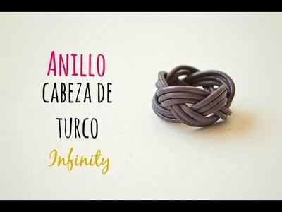 """Cómo hacer un anillo infinity """"nudo cabeza de turco"""" con cuero o hilo de algodón"""