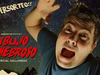 DIBUJO TENEBROSO PARA HALLOWEEN SUPER FACIL -  SUPER SORTEO INTERNACIONAL!!