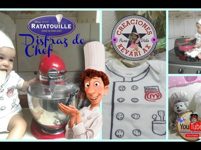Disfraz de Chef casero fácil Ratatouille. Gorro o sombrero de Cocinero