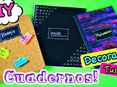 DIY: DECORA TUS CUADERNOS SUPER FACIL Y RAPIDO! REGRESO A CLASES!| Nel Pastel Tv