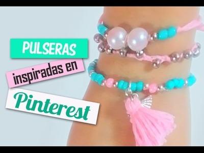3 ideas de PULSERAS INSPIRADAS EN PINTEREST - accesorios de moda