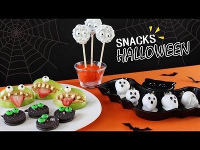 4 Snacks Para Halloween | Postres Fáciles | Akari Beauty