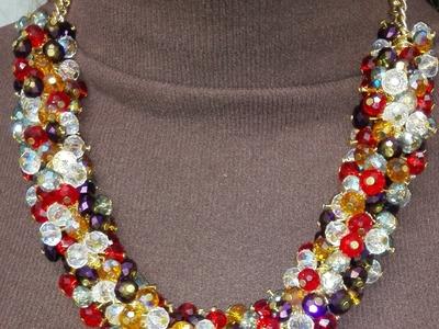 Como hacer un collar de murano multicolor