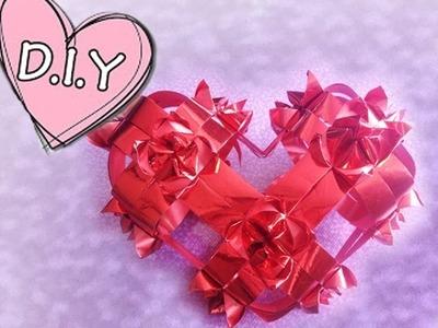 Como hacer un corazon con liston