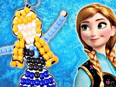 Como Hacer un Llavero de Beads de la Princesa Anna de Frozen ❅ Disney Manualidades DIY