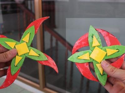 Como hacer un Shuriken Paper 4 sucursales | Ninja Estrella 4
