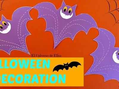 Decoración para Halloween.Día de los Muertos, Murciélagos, Guirnalda Murciélagos de Papel