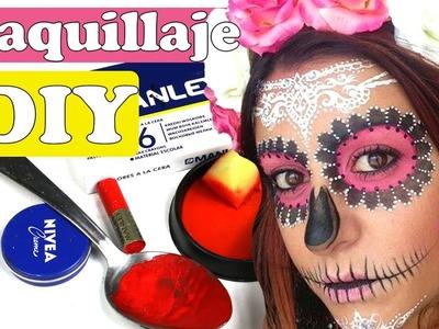 DIY pintura casera o maquillaje para disfraces de Halloween