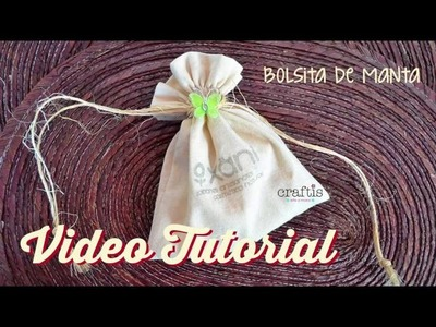 Tutorial: Cómo hacer una bolsa de manta ecológica  | How to make a bag of cotton fabric