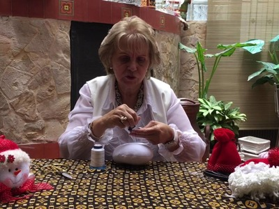 Aprenda con Doña Luz - Adorno de árbol muñeco de nieve