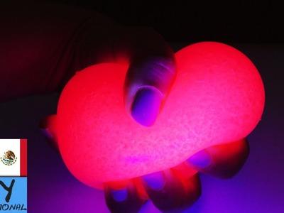 Bola antiestrés | Brilla con luz UV | Idea fácil con gelatina para bañeras | Tutorial