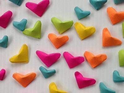Como hacer corazoncitos inflados de papel - Inflated paper hearts