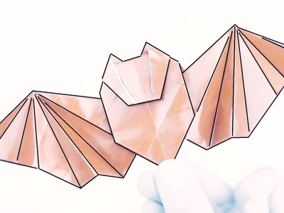 Cómo hacer un MURCIÉLAGO de Papel - Origami Halloween
