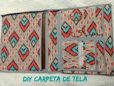DIY carpeta con tela