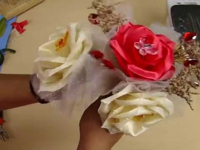 PARTE 2: Ramo de Flores de tela realista para toda Ocasión