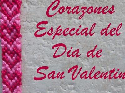 Pulsera de Hilo: Corazones San Valentin (remake)
