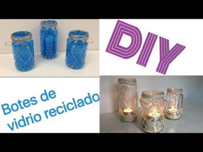 DIY recicla jarras o botes de vidrio velas para decorar tu casa