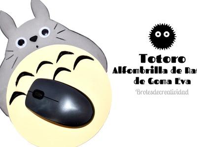 DIY : Totoro Alfombrilla de ratón de Goma eva. foamy - Brotes de Creatividad