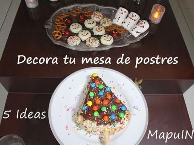 5 deliciosas recetas para decorar tu mesa de postres (Navidad) - Cocina con Mapu IN