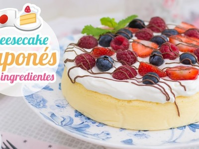 Cheesecake Japonés de 3 ingredientes | Quiero Cupcakes!
