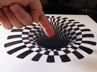 Cómo dibujar un INCREÍBLE agujero.hoyo 3D | How to draw a 3D hole | ILUSIÓN ÓPTICA ANAMÓRFICA 3D